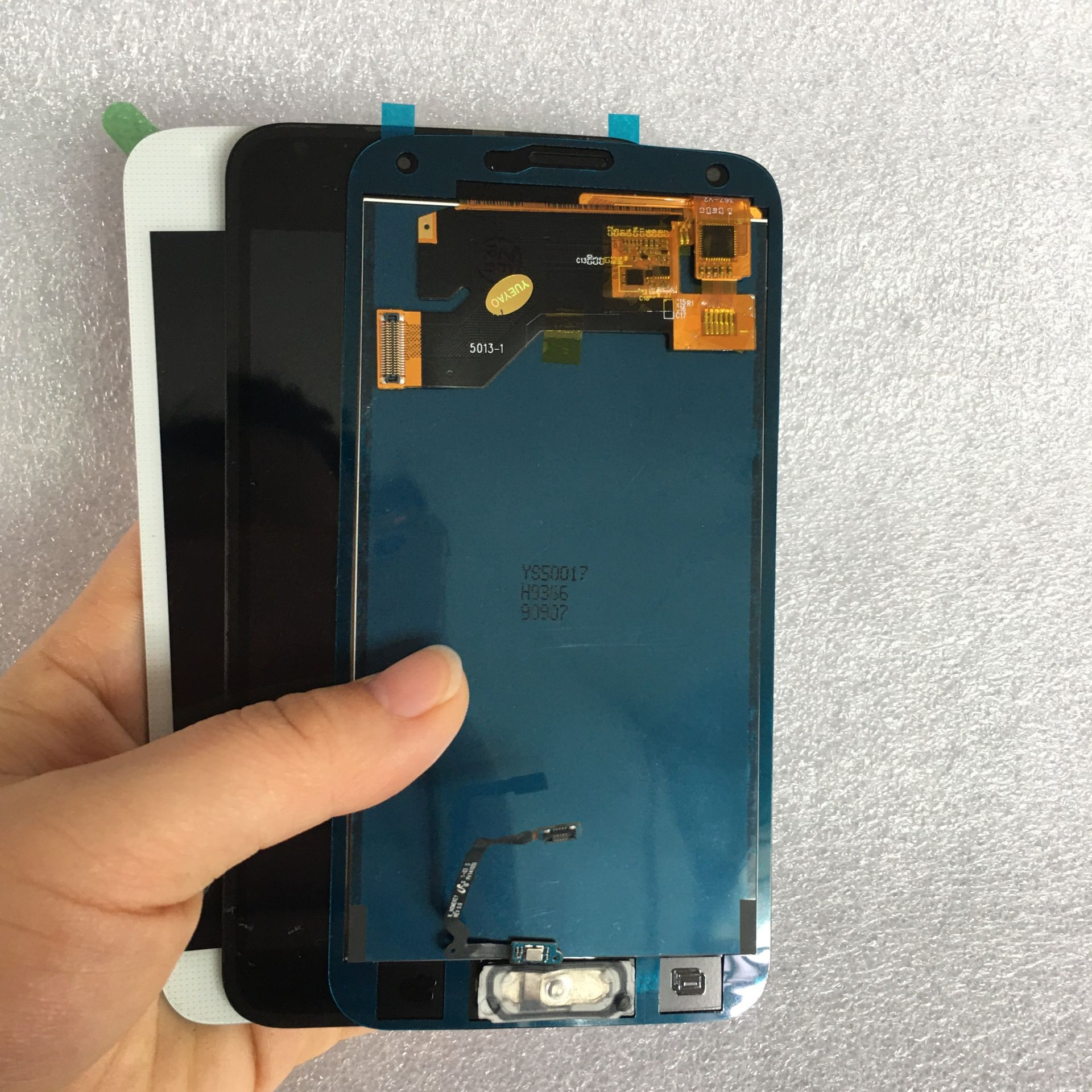 G900F LCD For Samsung Galaxy S5 I9600 SM-G900 LCD G900F G900M Display Touch Screen G900A G900T G900P G900 LCD With Home Button(China)