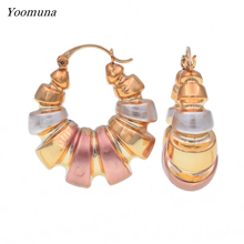 2019 Fashion Gold Color Hoop Earrings Trendy Jewelry Gift For Women Bridal Wedding Party Accessories