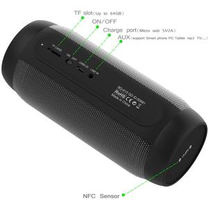 Image 5 - lewinner colorful Waterproof LED Portable Bluetooth Speaker BQ 615 Wireless Super Bass Mini Speaker with Flashing Lights FM