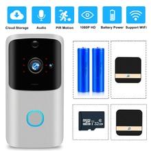 Video Intercom Smart WIFI Doorbell Camera 720P Door Phone Door Bell IR Night Vision PIR Alarm Wireless Security Camera SD Card