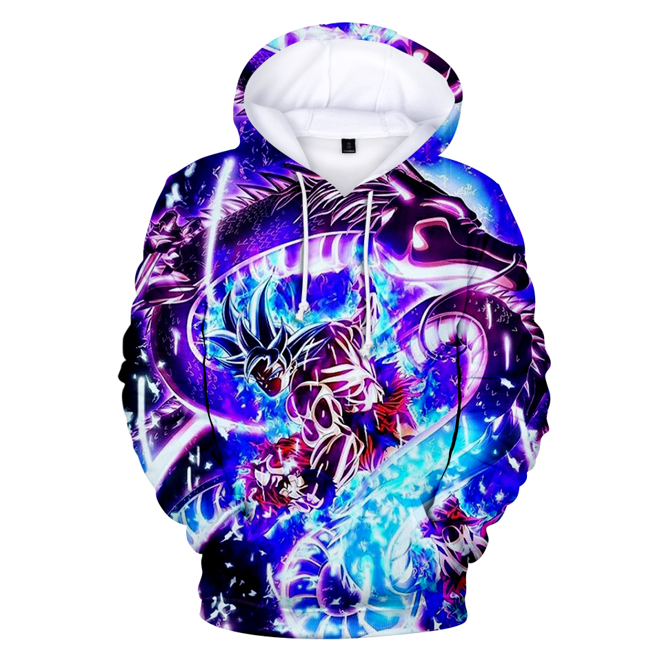 New WEJNXIN Winter Autumn Dragon Ball Super 3D Pullover Hoodies Men Women Cartoon Dragon Ball Super Goku Sweatshirt Sudaderas
