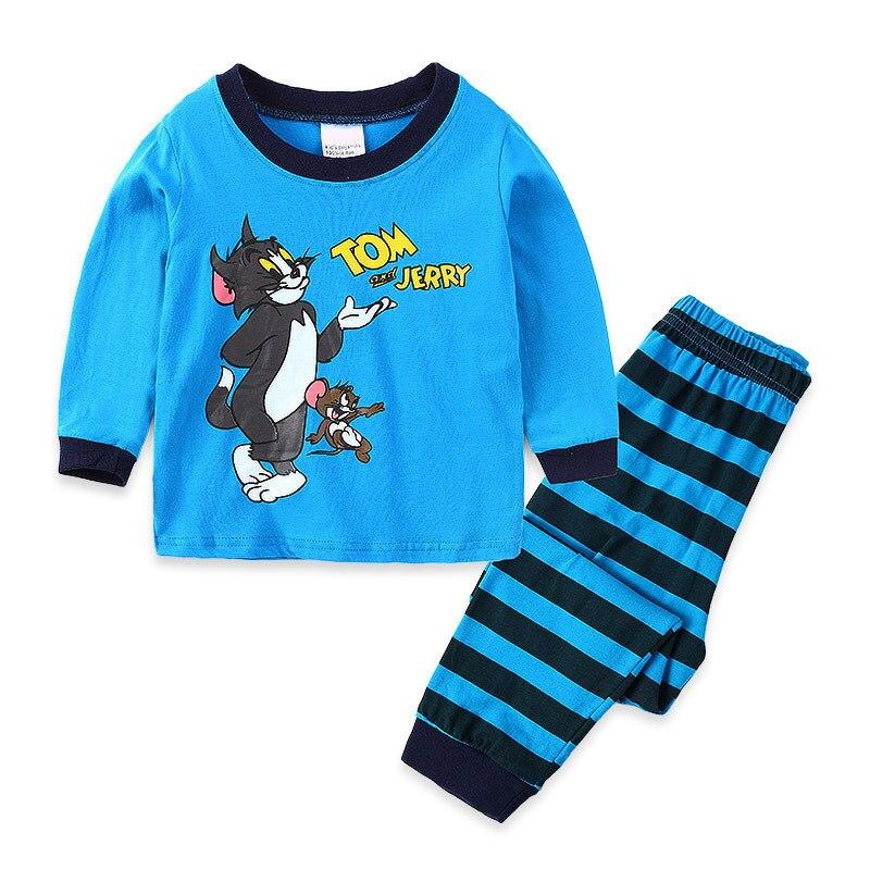 Spring Autumn Children   Pajamas   Toddler Pyjamas Boys Cotton   Pajama     Set   Baby Pijama Long Sleeve Tom Jerry Cartoon 2-7y