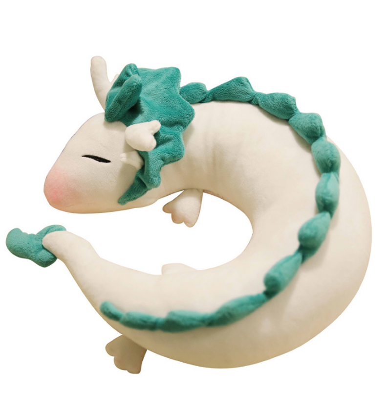 Fashion Cartoon Dragon Anime Soft Nursing Cushion Surrounded Haku Cute Doll Plush Toys Pillow Dolls Gift For Children&Kids