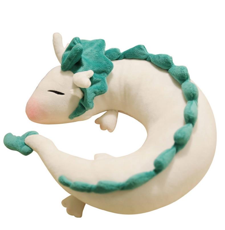 Fashion Cartoon Dragon Anime Soft Nursing Cushion Surrounded Haku Cute Doll Plush Toys Pillow Dolls Gift For Children&Kids