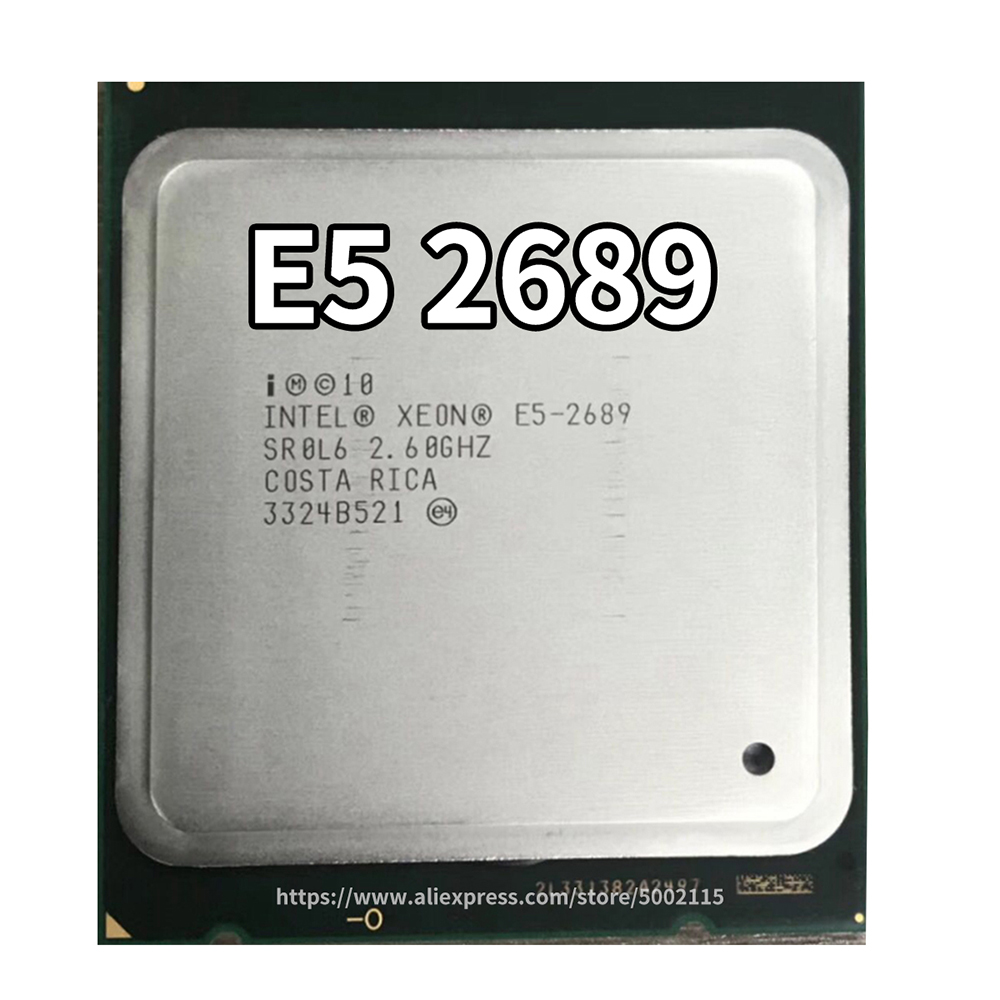 Intel-Xeon Series CPU E5 2689, E5 2640, E5 2630 V2, E5 2650 V2,E5 2670,for LGA 2011 Motherboard Support X79 Dual Motherboard