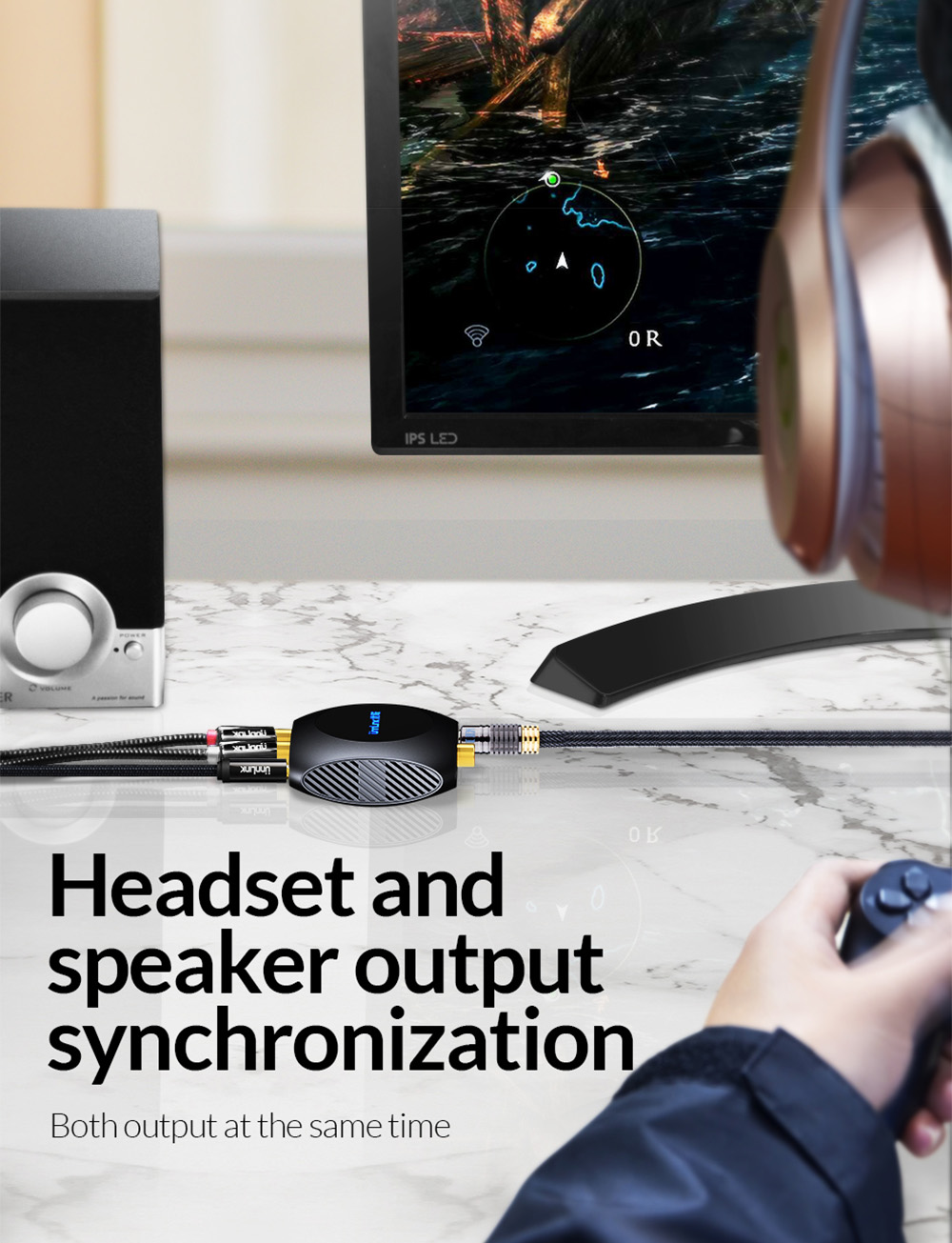 Nyahpaut Penukar Digital ke Analog Audio 192 KHz DAC Amplifier SPDIF Optic Toslink Coaxial to RCA 3.5 jack PS4 TV xbox one