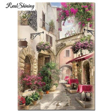 "Diamond Embroidery ""European Garden Scenery"" 5D DIY Diamond Painting Full Square/Round drills Mosaic Wall Art Decoration FS7086(China)"