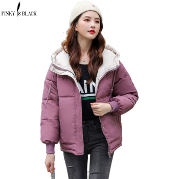 PinkyIsBlack New Short Parka Women 2020 Snow Wear Winter Jacket Women Coats Hooded Ladies Coat Female Thick Cotton Padded Jacket maternity winter jacket women new 2018 coats female parka black thick cotton padded lining clothes pregnant woman outwear