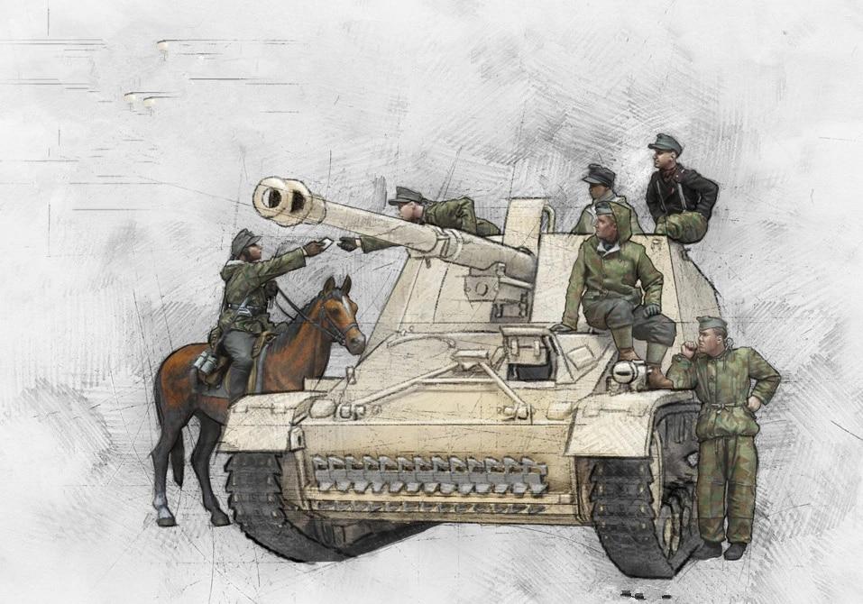 no Tank WWII Unpainted 1//35 Resin Figure Model Kit German Officers Soldiers