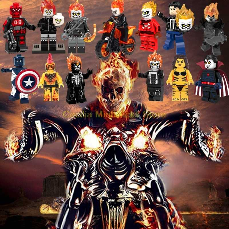 Ghost Rider Avengers Endgame Thanos Super Heroes Bausteine Marvel Captain Marvel Iron Man Nicolas Käfig
