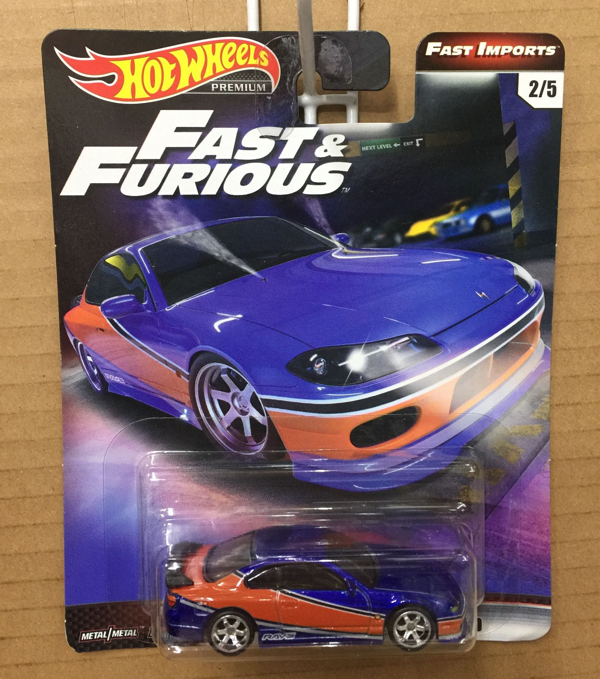 Hot Wheels Cars 1/64  Fast Furious Nissan Silvia S15 Collector Edition Metal Alloy Car
