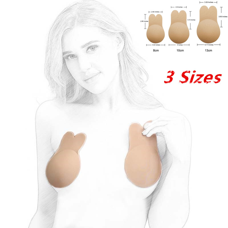Reusable Women Breast Petals Lift Bra Nipple Cover Invisible Petal Strapless Backless Adhesive Bra Silicone Breast Cover Sticker