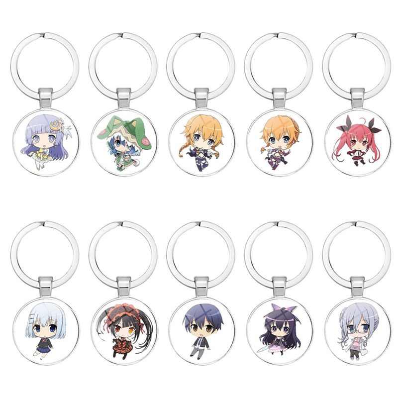 1Pcs DATUM EEN LIVE Yoshino Anime Rubber Strap Phone Charm Sleutelhanger Sleutelhanger Hanger Gift