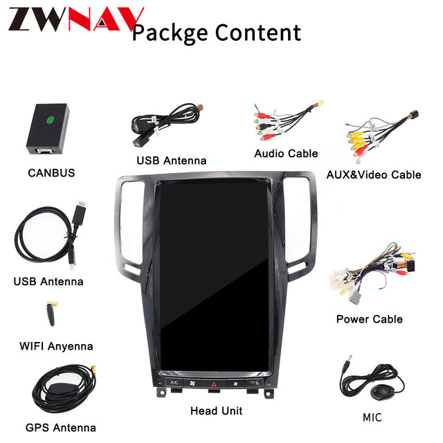 DSP Carplay vertical Tesla screen Android 9.0 Car Multimedia Player For Infiniti G25 G37 car GPS Audio Radio stereo BT Head Unit