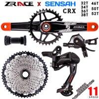 SENSAH CRX 1x11 Speed bicycle crank+Trigger Shifter+Rear Derailleur 11s+ Cassette+Chain MTB Group set for SLX M6000 M7000 new