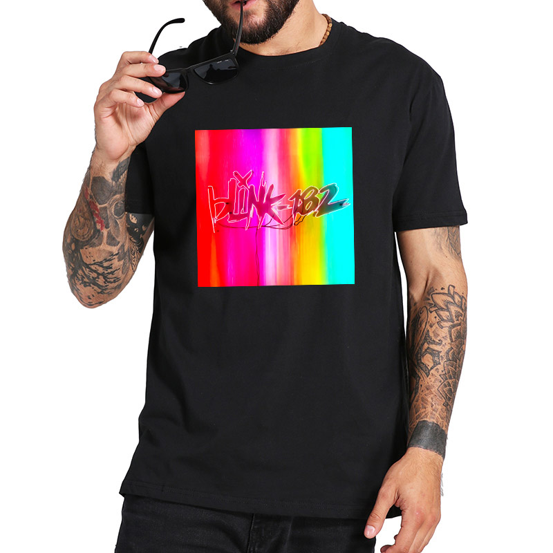 Blink 182 Tshirt New Album NINE Punk Rock Band T Shirt Casual Breathable Homme Crew Neck Asian size 100% Cotton Tops image