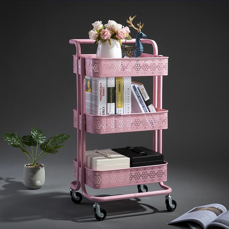 Per la casa in metallo piccolo carrello retro vuoto modello rack di stoccaggio soggiorno mensola della cucina organizzatore camera organizzatore - 3