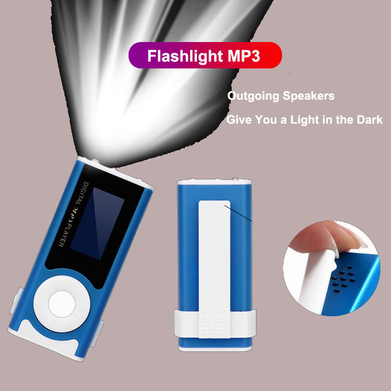 MX803 Mini Sports Cute Mp3 Player Portable With Flashlight Support Music Mp3 Player