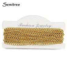 Semitree 5 metros 3*4mm torção de aço inoxidável correntes para diy colar pulseira fazendo jóias achados atacado corrente