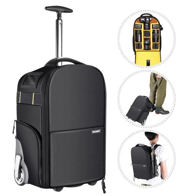 Neewer 2-in-1 Wheeled Camera Backpack Luggage  1