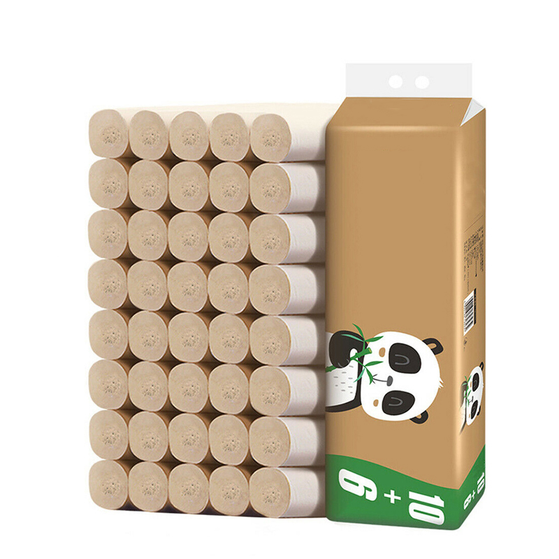 16 Rolls Natural Bamboo Toilet Paper 4Ply Bulk Tissue Without Bleached Soft Home Bathroom Papers