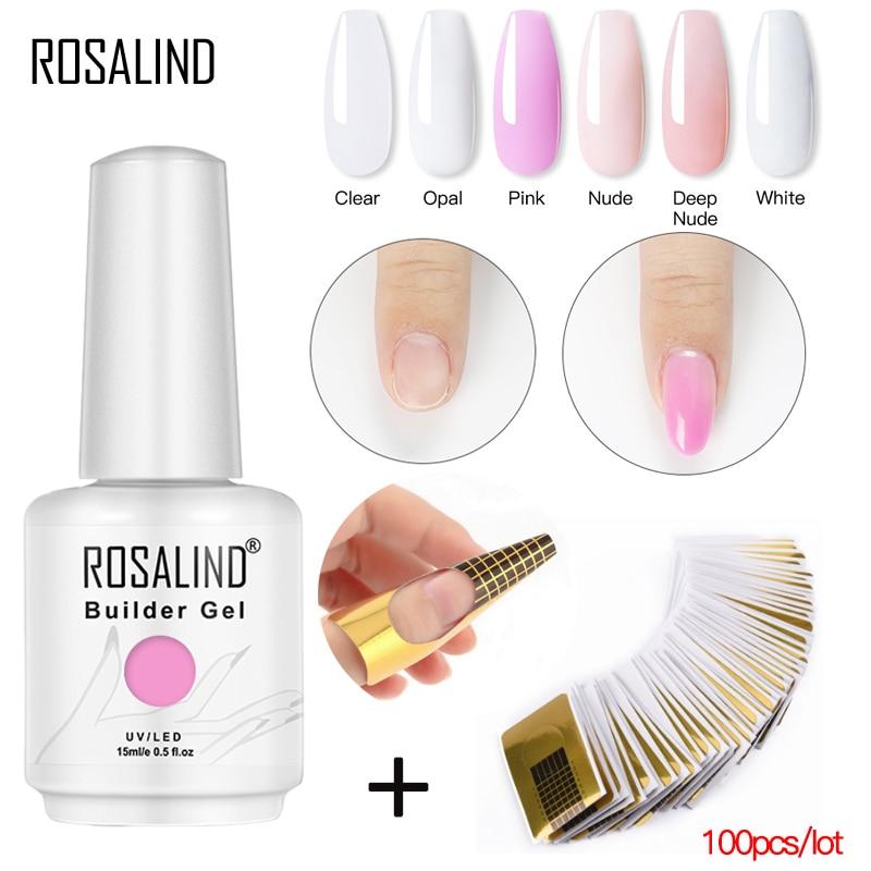 Гибридные лаки для ногтей ROSALIND, полуперманентный УФ-светодиодный гель для маникюра и дизайна ногтей