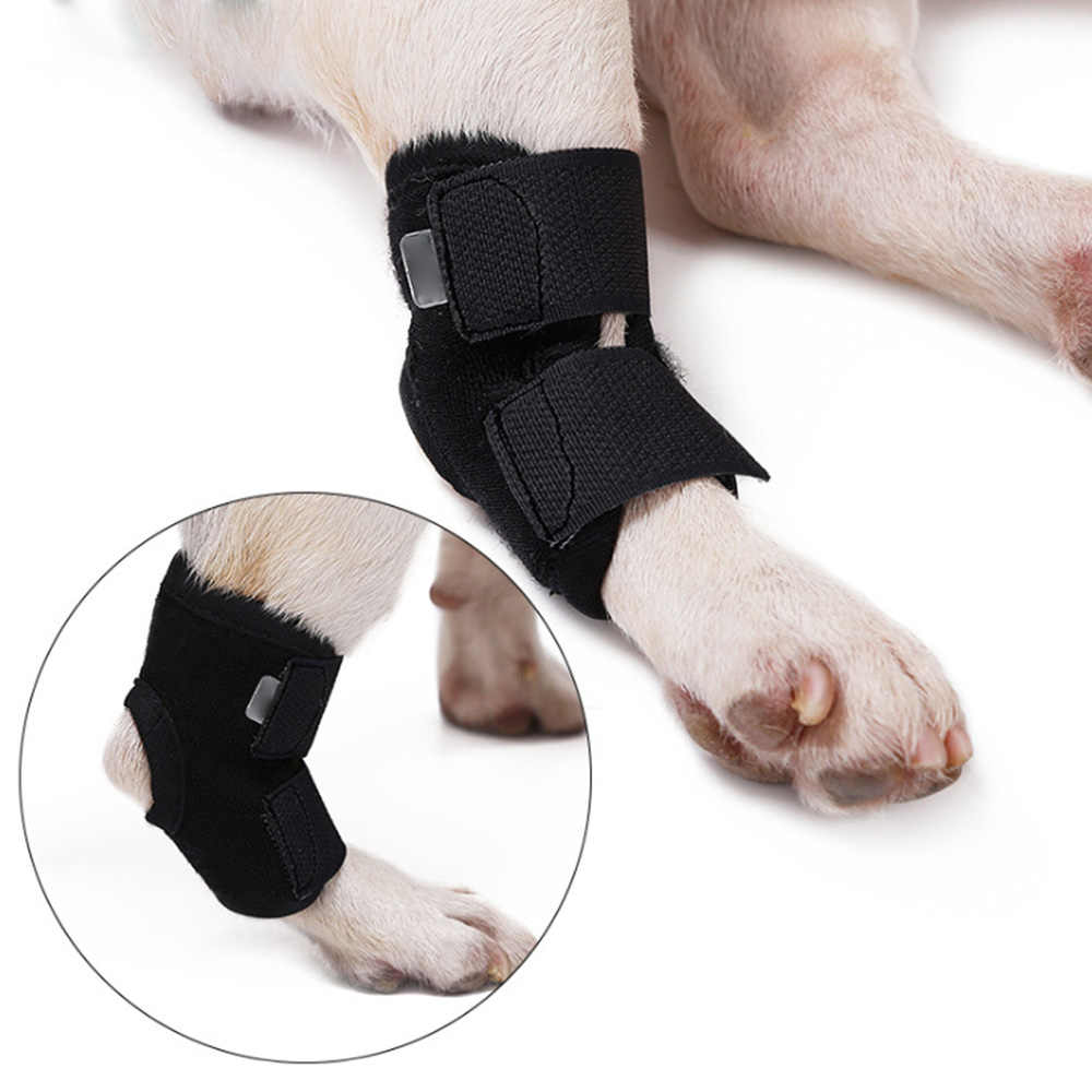 Original Pet Knee Pads Dog Support Brace for Right Left Leg Hock Joint Wrap Breathable Injury Recover Legs Dog Protector Support