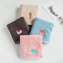 34x75cm 100% Cotton Hotel Travel Towel Embroidery Cartoon Animal Thick Home Bathroom Children Hand Face
