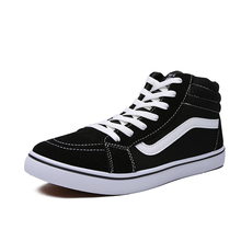 Men's Vulcanize Shoes High Top Old Skools Classic Black Gray