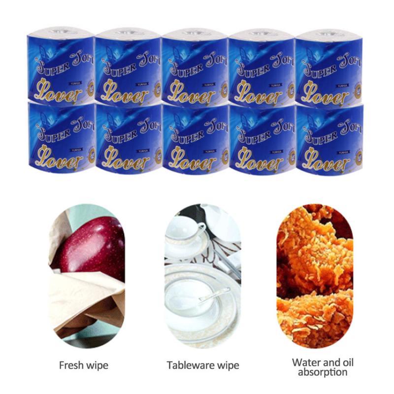 1 Rolls White Toilet Paper Bulk Rolls Bath Tissue Bathroom White Soft 3 Ply Home Bathroom Kitchen Accessories