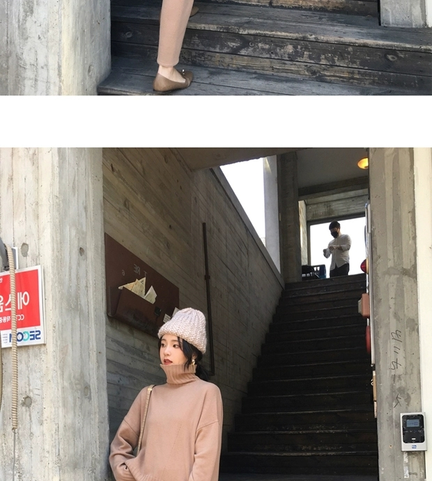 Hc9a7e9c933ad48bea4263559380f5defH - Autumn / Winter Turtleneck Sweater and Straight Solid Pants