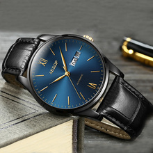 Aesop Ultra Thin Watch Men Automatic Mechanical Minimalist Wrist Wristwatch Leather Band Male Clock Relogio Masculino 1001g