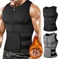 Men Body Shaper Waist Trainer Vest Slimming Shirt Sauna Sweat Vest Compression Undershirt Shapewear Fat Burner Workout Tank Tops