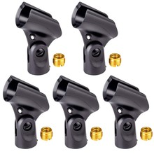 Universal Microphone Clip Holder with 5/8 Inch Male to 3/8 Inch Female Nut Adapters Black(China)