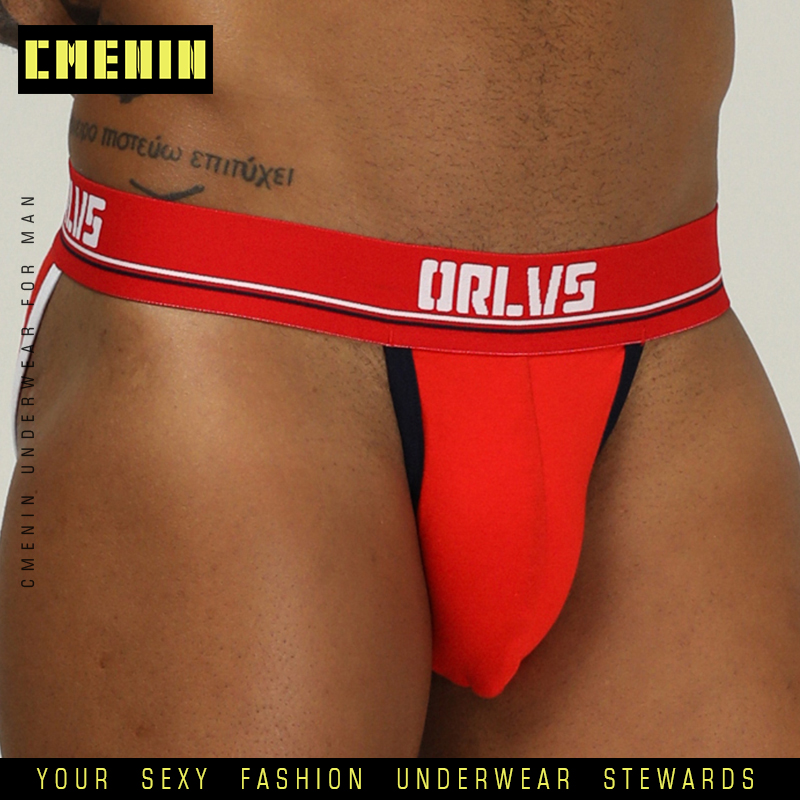 Sexy Men Underwear Mens Briefs Jockstrap Cotton Underpants Gay Male Brief Cuecas Men G Srting Jock Strap Bikini Under Wear OR184