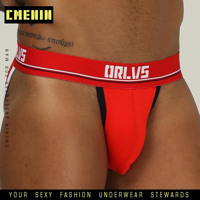 Sexy Men Underwear Mens Briefs Jockstrap Cotton Underpants Gay Male Brief Cuecas Men G Srting Jock Strap Bikini Under Wear OR184
