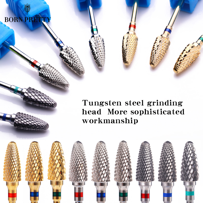 Nail Drill Bits Tungsten Steel 2.35mm Head For Nail Art Electric Machine Gel Polish Remover Grinding Polishing File Tool 1PC