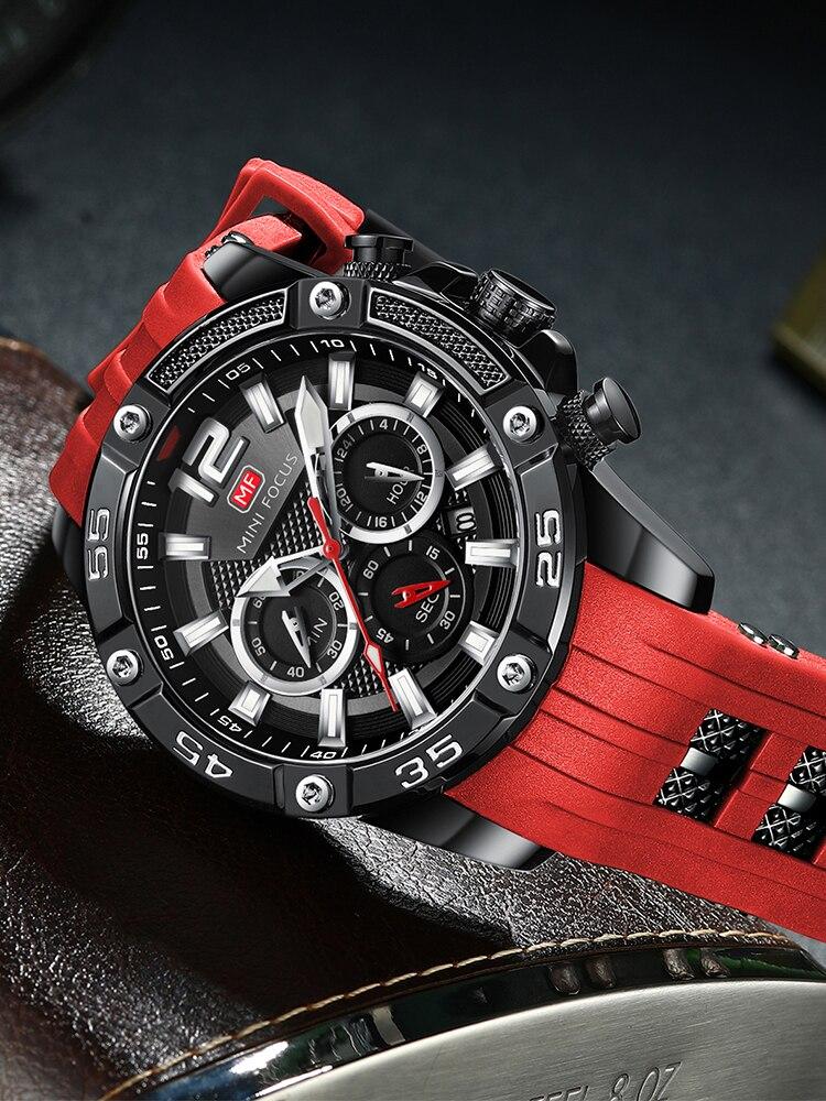 Mens Watches Silicone-Strap Quartz Mini Focus Waterproof Top-Brand Reloj Hombre Fashion
