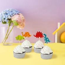 24 шт./лот динозавры мультфильм кекс pick Baby Shower вечерние торт дети день рождения украшения вечерние принадлежности