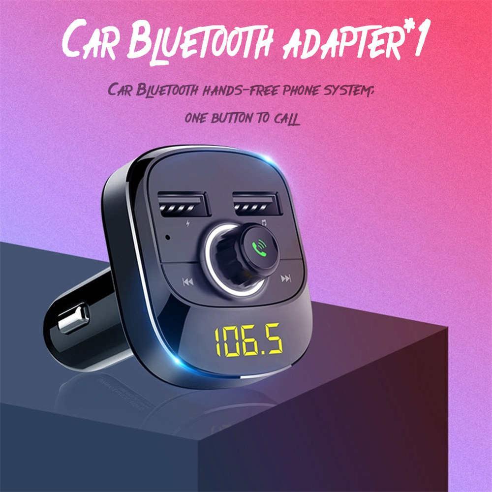 2019 NEW Fm Modulator Car MP3 Player Bluetooth FM Transmitter Kit Hands-Free 3.1A Dual USB Car Type-c Charger