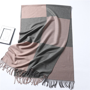 Image 4 - Casual Cashmere Scarf Women Winter Neck Warm Scarves Thick Shawls Wraps for Lady Solid Palid Pashmina Echarpe Femme 2020 New