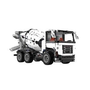 Image 2 - Xiaomi MITU mühendislik karıştırıcı kamyon yapı taşları araba oyuncak çocuklar noel hediyesi montaj yapı tuğla 900 + parçaları bulmacalar DIY