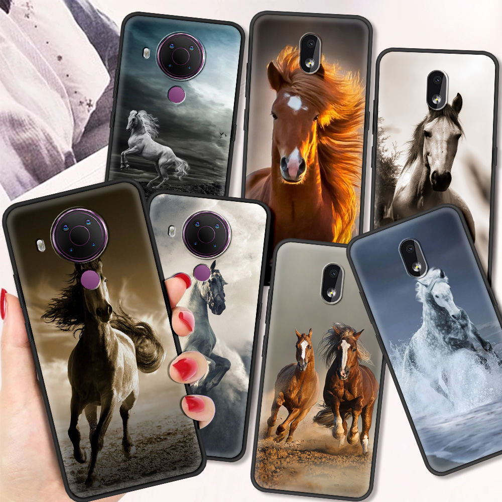 Horse Luxury Silicone Cover For Nokia 2.2 2.3 3.2 4.2 7.2 1.3 5.3 8.3 5G 2.4 3.4 C3 1.4 5.4