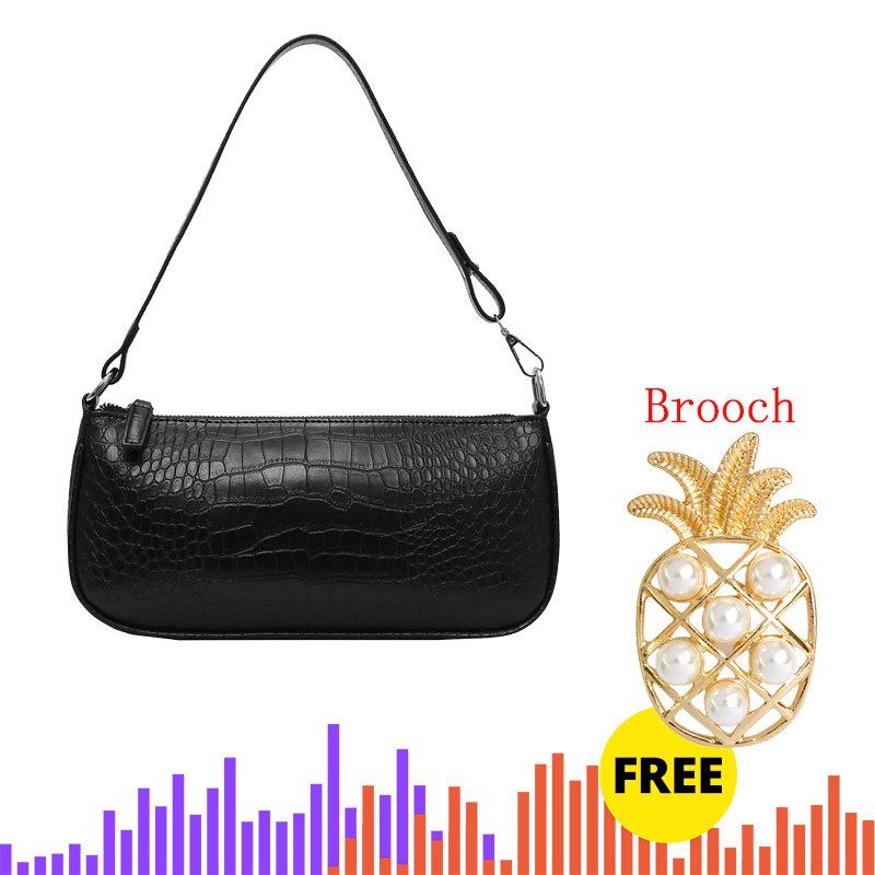 Dropshipping Retro Alligator Pattern Women Messenger Flap Handbags 2019 New PU Leather Street Casual Solid Zipper Shoulder Bags