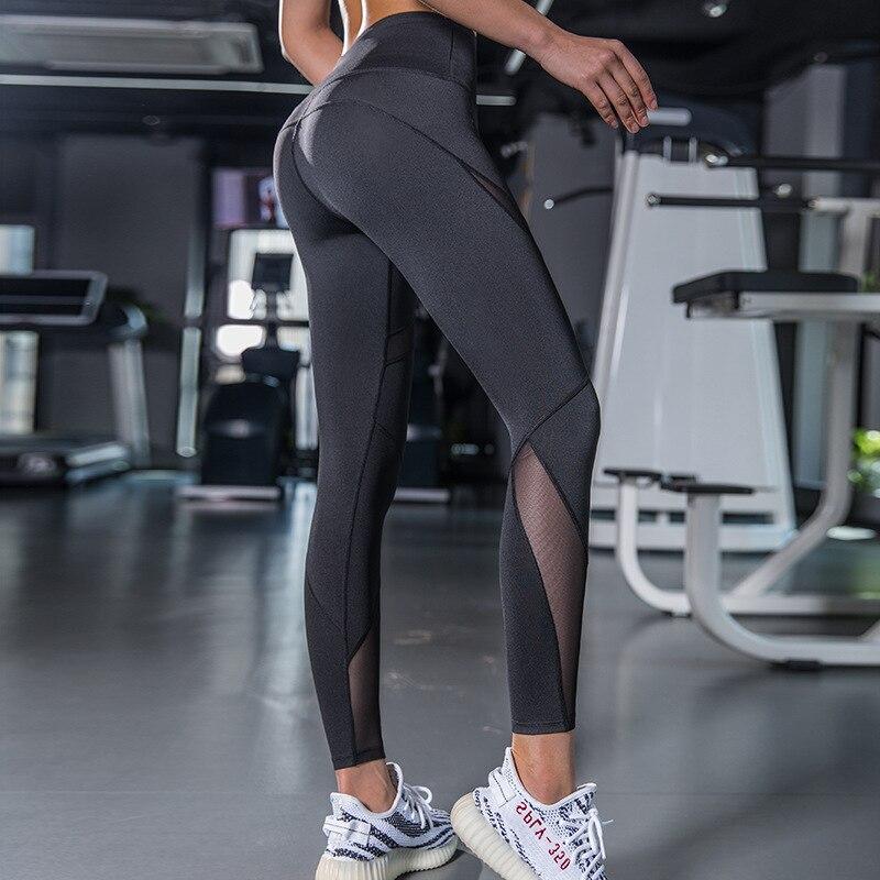 Preto malha leggings yoga tubarão energia sem costura leggings esporte feminino esportes de fitness wear para ginásio leggings calças de yoga