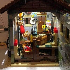 Image 3 - Pomysły stary sklep wędkarski ze światłem zestaw lepinlys budowa domu bloki 21310 cegły edukacyjne zabawki dla dzieci prezent na boże narodzenie