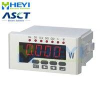 48*96mm led 디지털 활성 파워 미터 rs485 단상 클래스 0.5 ac 디지털 파워 미터