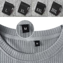 Clothing-Labels Woven Men XL XXS XXS-7XL 100pcs Tops Garment-Height-Tags Embossed Size-Number