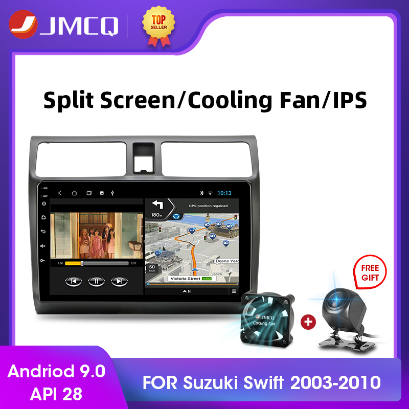 JMCQ <font><b>Android</b></font> 9.0 2+32G DSP Car Radio Multimidia Video Player Navigation GPS Car Stereo For <font><b>Suzuki</b></font> <font><b>Swift</b></font> 2005-2010 2din Head Unit image