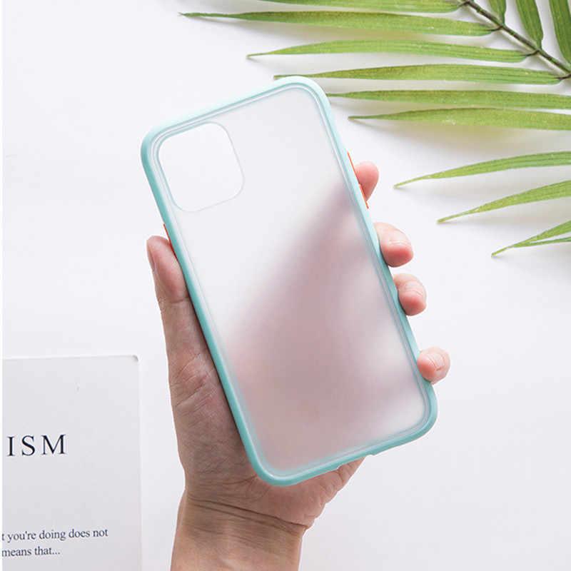 Mat sert telefon kılıfı OnePlus 6 için 67 7 7T Pro iphone için kılıf 11 Pro Max Xs XR X 6 6S 7 8 artı 5 5S sert arka kapak kılıf